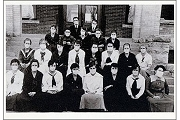 Art Postcard - High School Class Portrait, Taken During Influenza Epidemic