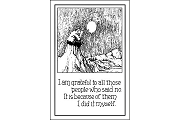 Art Postcard - I am grateful...