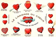 Art Postcard - Le Langage du Coeur (The Language of the Heart)