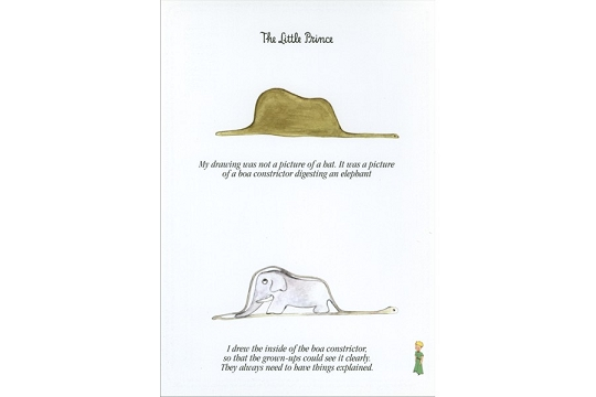 Little Prince - Adult Explanations Postcard