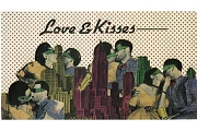 Love & Kisses Vintage Over-Sized 3D Art Postcard