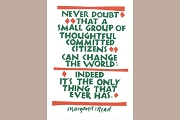 Art Postcard - Never Doubt...