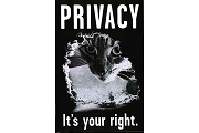 Art Postcard - Privacy - It's Your Right