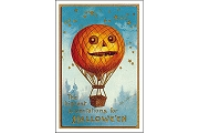 Art Postcard - Pumpkin Balloon