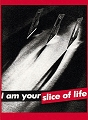Barbara Kruger - Untitled (Slice of Life), 1981 Fine Art Postcard