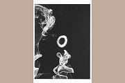 Smoke Rings Art Postcard