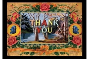 Art Postcard - Thank You
