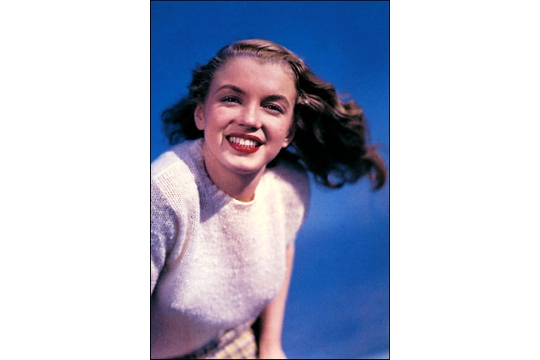 Art Postcard - Young Marilyn Monroe