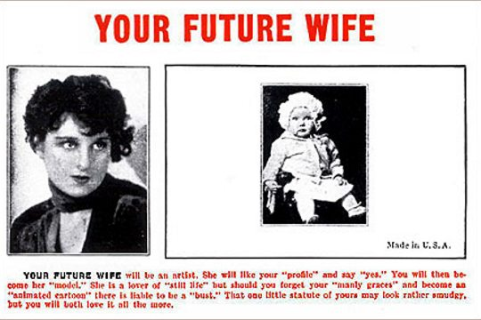 Art Postcard - Your Future Wife
