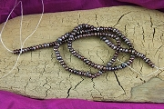16-Inch Temporary Strand of Variegated Coffee Freshwater Pearls