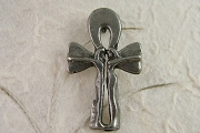 Modern Pewter Ankh Lovers Pendant
