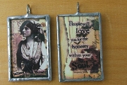 Believe in Yourself Reversible Collage Pendant