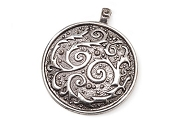 Cosmic Circle Sterling Silver Plated Pendant