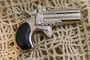 Miniature 19th Century Derringer Pistol Pendant (A Real Mini Cap Gun)