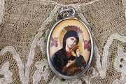 Our Lady of Perpetual Help Enamel Pendant
