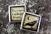 Reversible Once Upon a Midnight Dreary...Raven Pendant