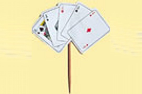Package of 5 Playing Card Picks