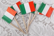 Package of 5 Vintage Italian Flag Picks.