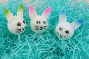 Three Hard Plastic Bunny Picks with Pastel Ear Accents