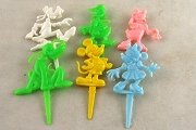 Set of 6 Vintage Walt Disney Character Cupcake Picks