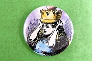 Alice in her Crown Pin-Back Button