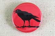 Pin- Back Button - Crow on a Branch