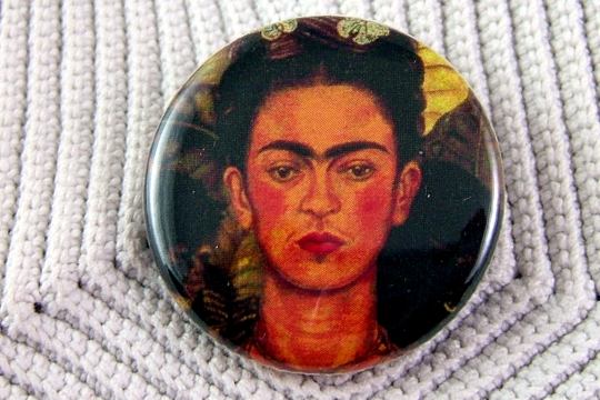 Frida Kahlo Pin-Back Button