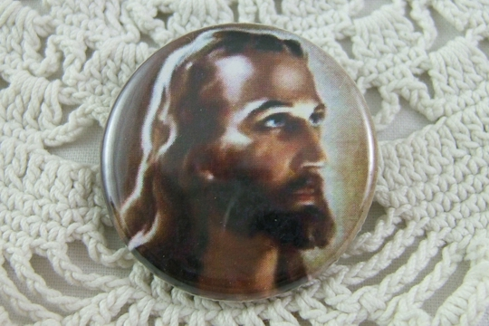 Jesus Pin-Back Button