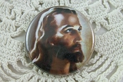 Jesus Pin Back Button - SilverCrow Exclusive