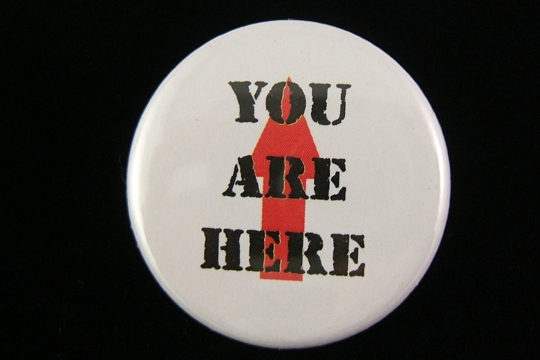 You Are Here Pin-Back Button