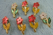 Vintage Metal Spring Flower Pin