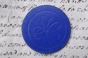 Vintage Blue Dennison Pressed Paper Poker Chip