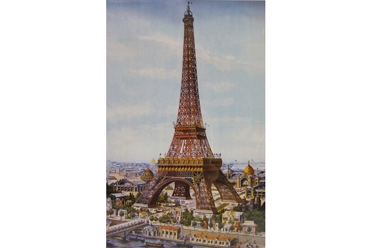 Large Vintage Style Eiffel Tower Poster