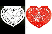 Papel Picado - Corazon (Heart)