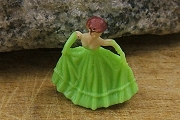 Teeny Tiny Plastic Prom Girl in Apple Green Gown and Gloves