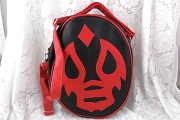 Black and Red Marathon Luchador Handbag / Shoulder Bag / Backpack