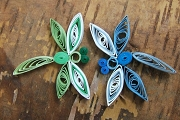 Set of 2 Quilled Dragonflies