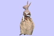 Jenny Rabbit - Elegant, yet Primitive Painted Canvas Rabbit (18-1/2 inches)