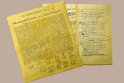 The Declaration of Independence Final and Draft - Reproduction Antiqued Parchment Set
