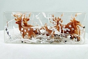 Santa's Reindeer Set in Clear Plastic Box<br><font size=
