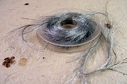 Metallic Silver Feathery Cording/Ribbon - 10 Yards - Different than Others on the Market