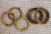 Vintage Bamboo Ring or Circle
