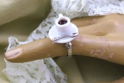 Kitschy Adjustable Coffee Cup or Tea Cup Ring