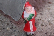 Vintage Hand Painted Teensy Tiny Old World Style Santa