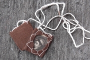 Vintage Hand Embroidered Scapular featuring Saint Anthony