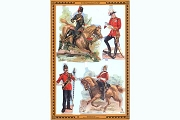 Reproduction Chromolithograph Embossed Die-Cut Scrap Reliefs - All the King's Men (Set 2)