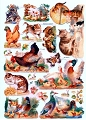 SCRAPS - Reproduction Chromolithograph Embossed Die-Cut Reliefs - Farm Friends