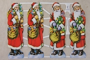 Die Cut and Embossed Reproduction Chromolithograph Scraps - Santa Claus