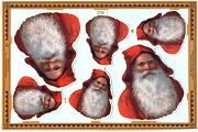 Die Cut and Embossed Reproduction Chromolithograph Scraps - Santa Longbeard