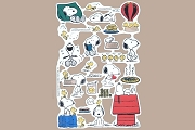 SCRAPS - Reproduction Chromolithograph Embossed Die-Cut Reliefs - Snoopy and Woodstock - Set 1